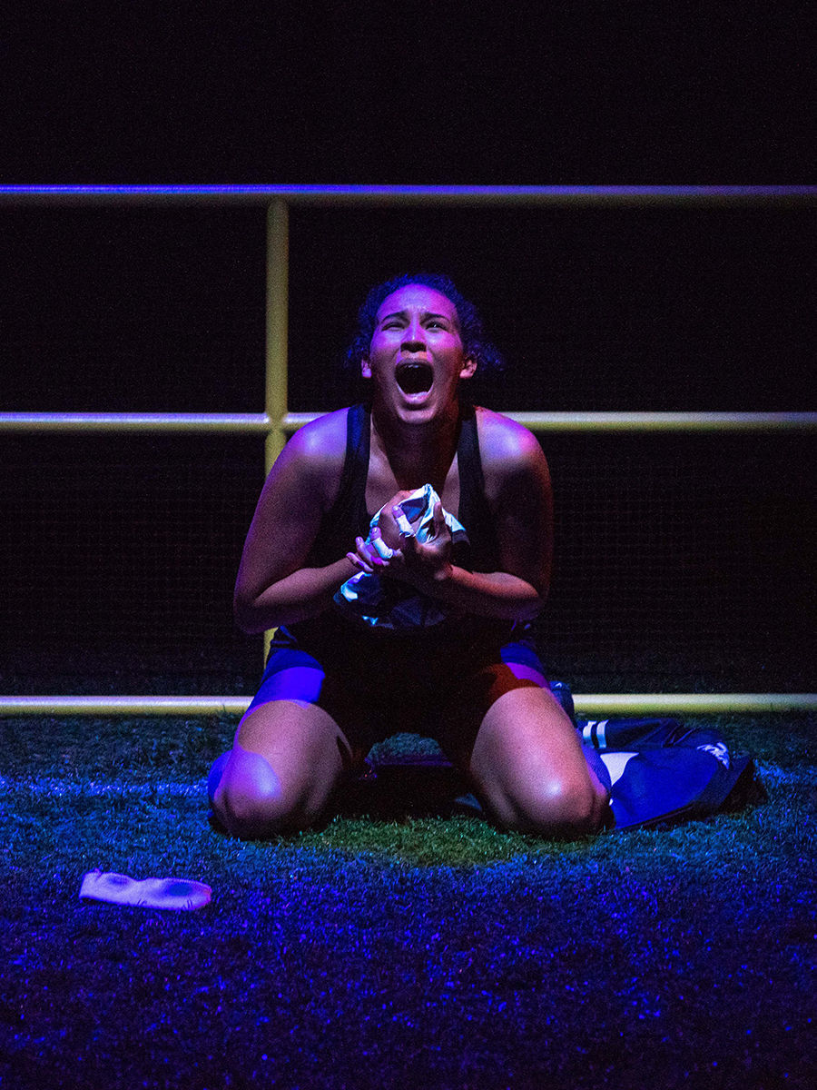 Kaylene Howard as 00 in a scene from PCPA's production of 'The Wolves'