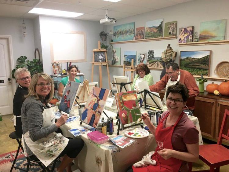 Beginner Painting Class in Acrylic Art at Gypsy Studios