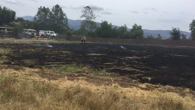 Santa Ynez grass fire