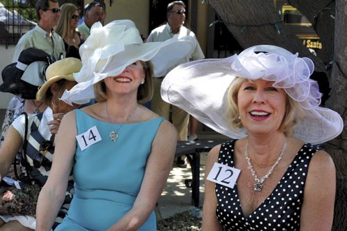 Hats on parade