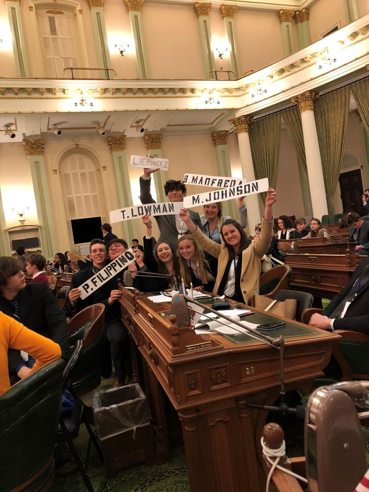 Stuart C. Gildred Family YMCA Youth and Government Delegates in Sacramento