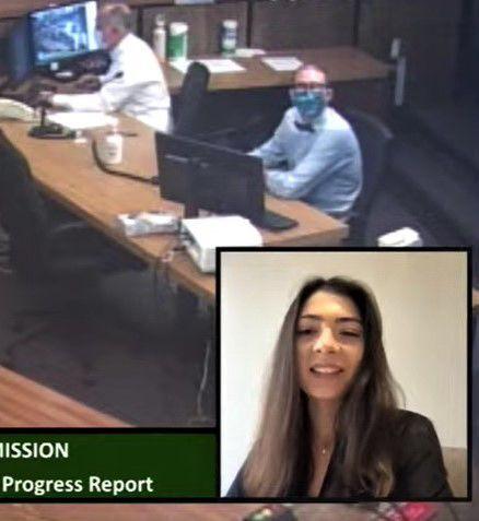 Corina Venegas reports on Comprehensive Plan