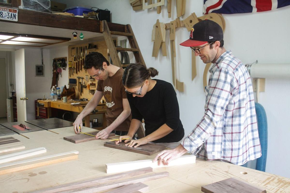Workshop Attendees Designing Their Cutting Board