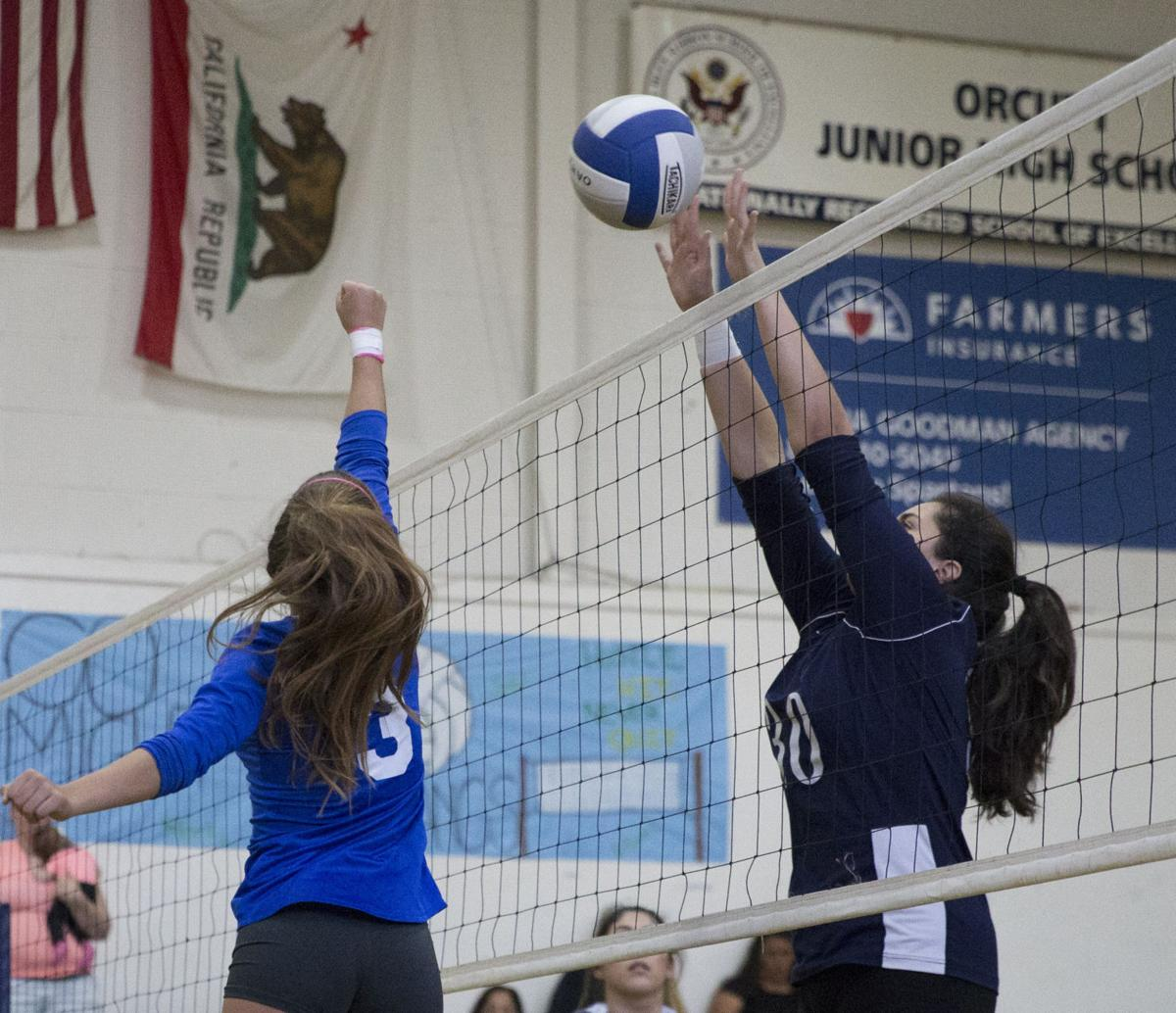 Girls Volleyball Orcutt Academy vs Lompoc