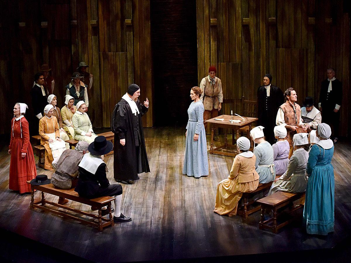 """Mark Booher and Polly Firestone Walker in PCPA's """"The Crucible"""""""