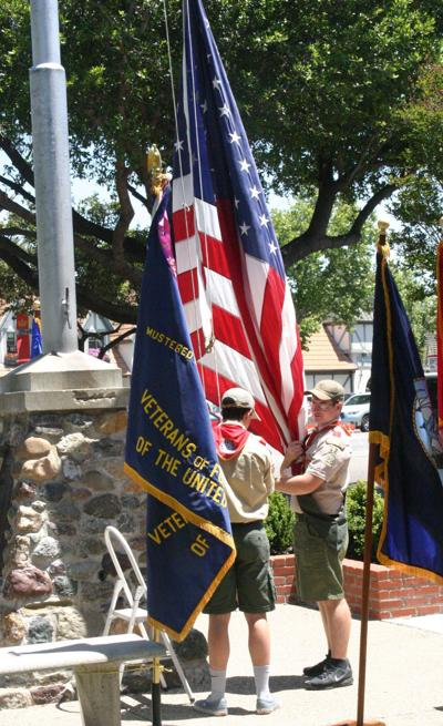 Solvang Memorial Day Boy Scouts flag