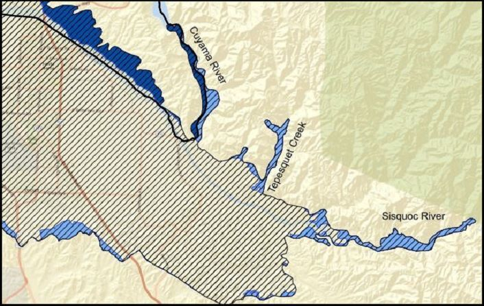 Santa Maria River Valley Groundwater Basin fringe areas