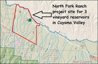 North Fork Ranch pond sites map