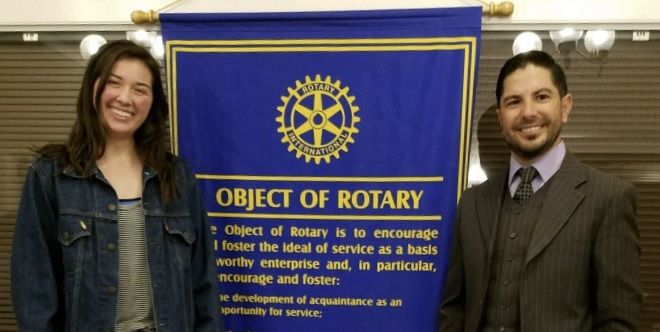 Chloe Monahan, Rene Martinez, Rotary scholarship