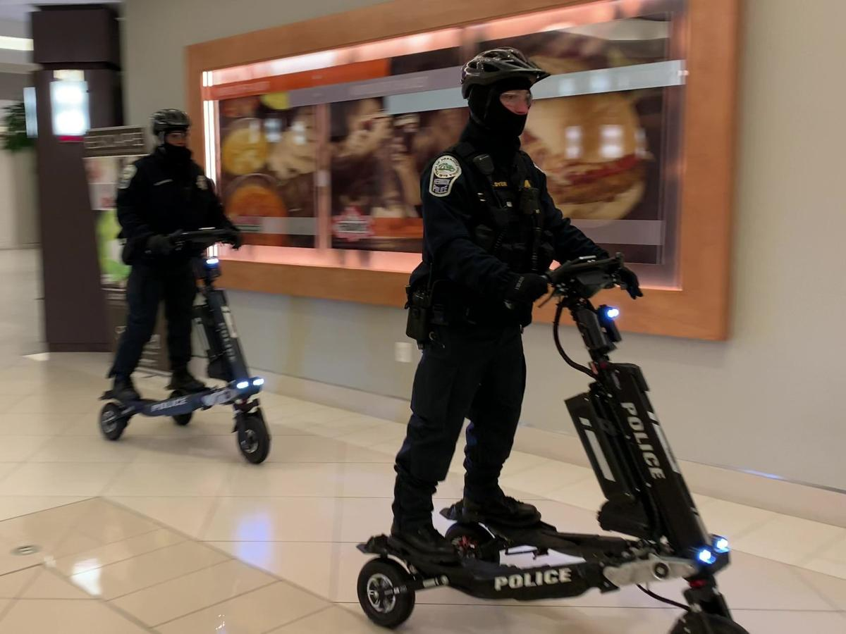 Herndon, Virginia, police patrol on Trikke Defenders