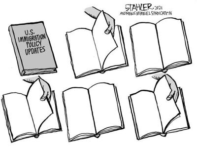 Editorial Cartoon: Immigration policy