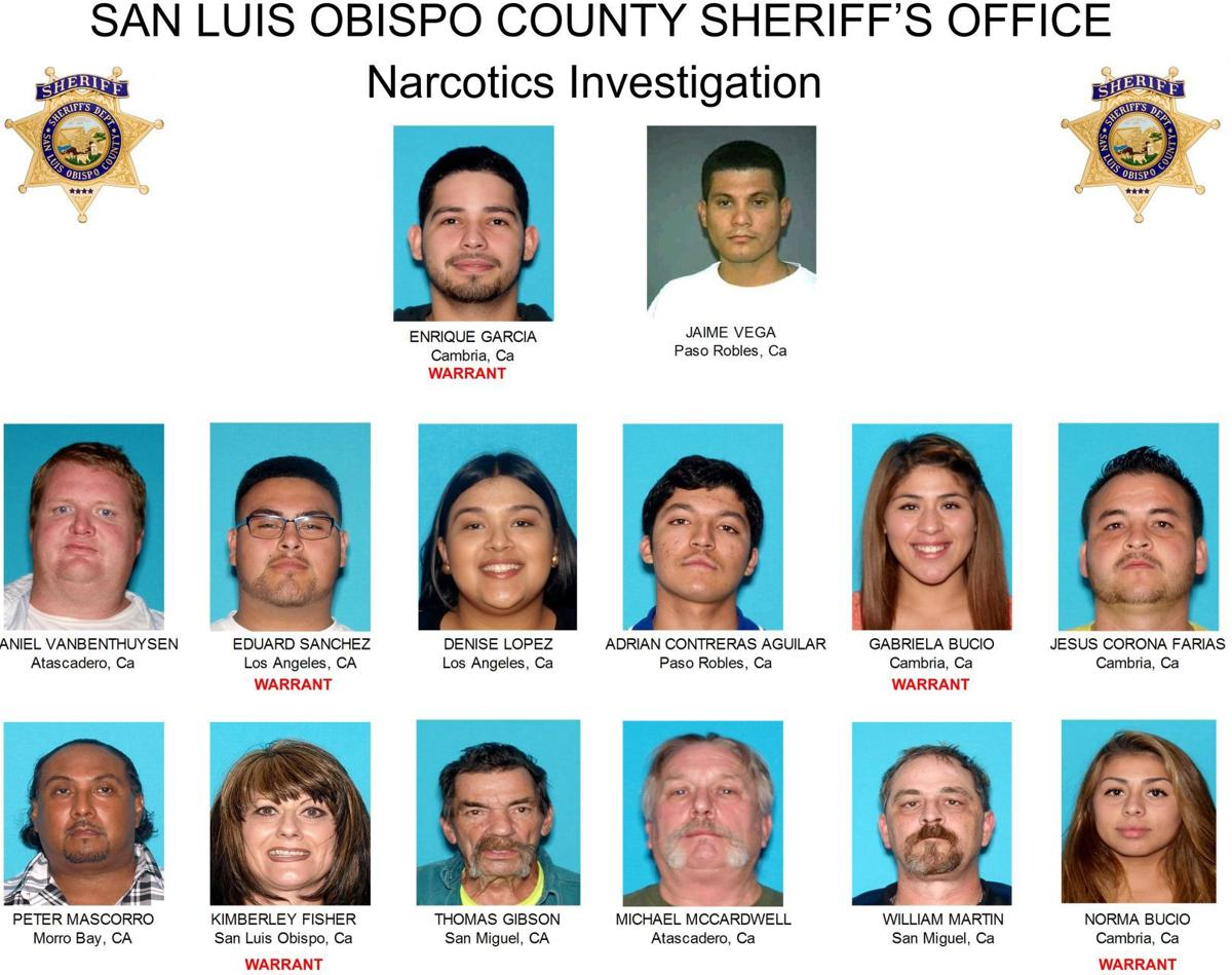 SLO County arrests