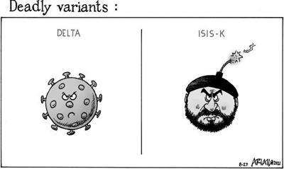 Editorial Cartoon: Deadly variants