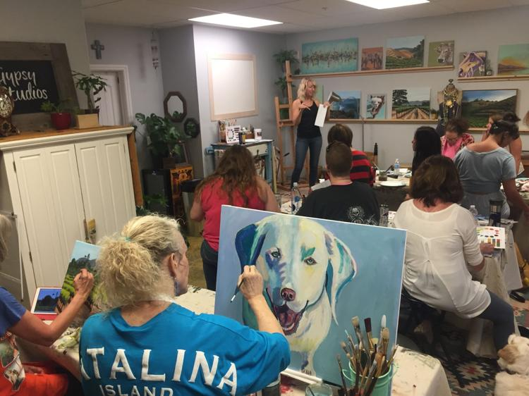 Returning Students to Gypsy Studios Art
