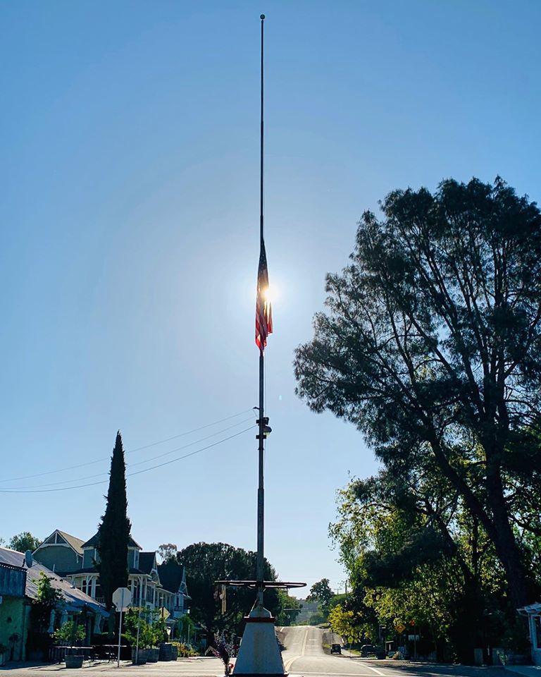 042820 Larry Saarloos half mast
