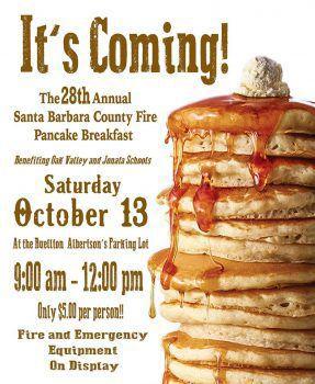 Firefighters Annual pancake breakfast