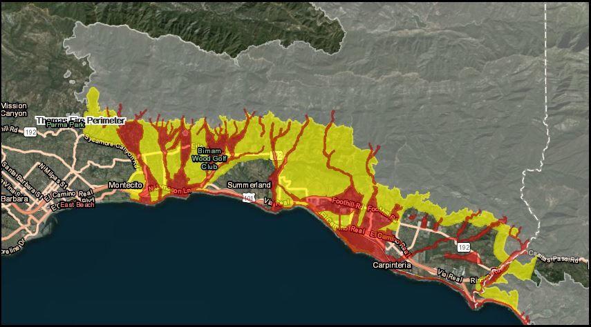 New Montecito risk map