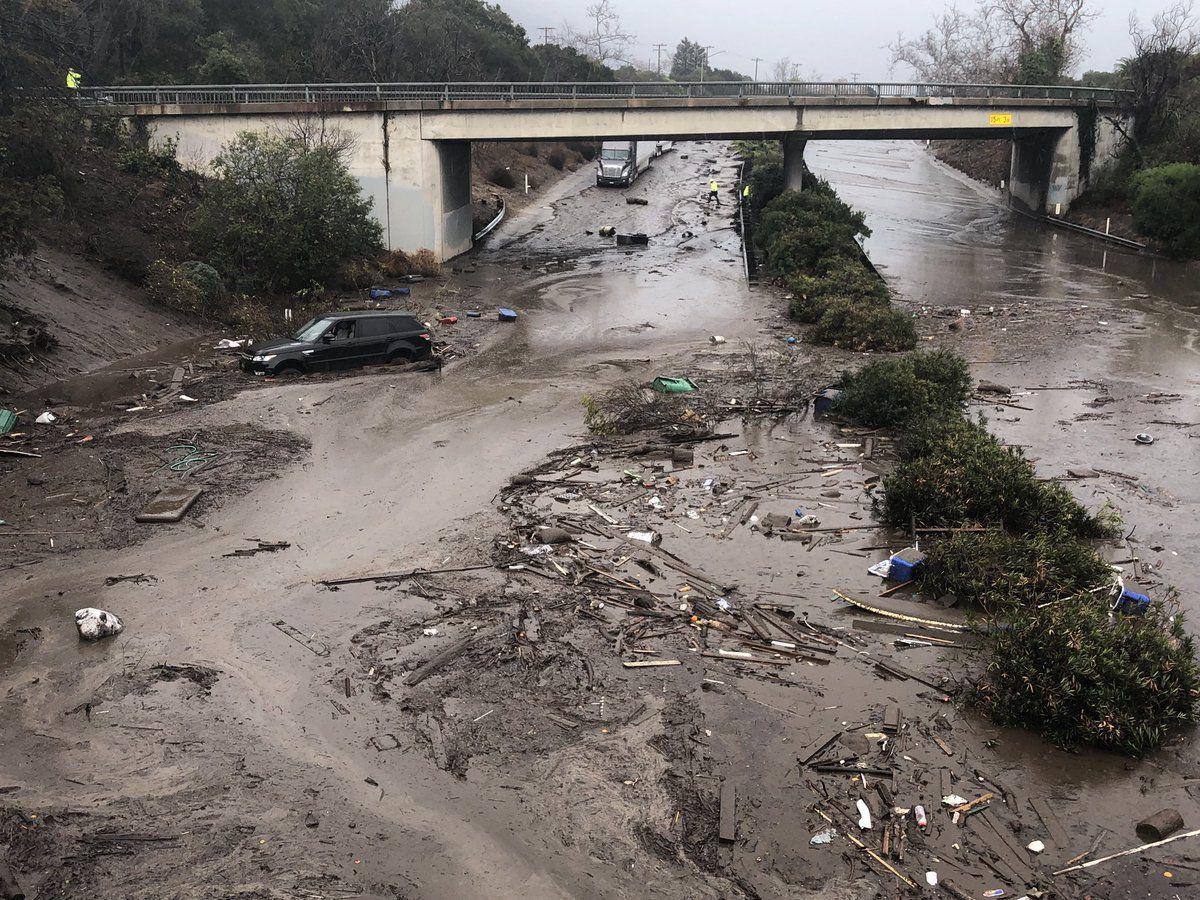 Mudslide closes Highway 101