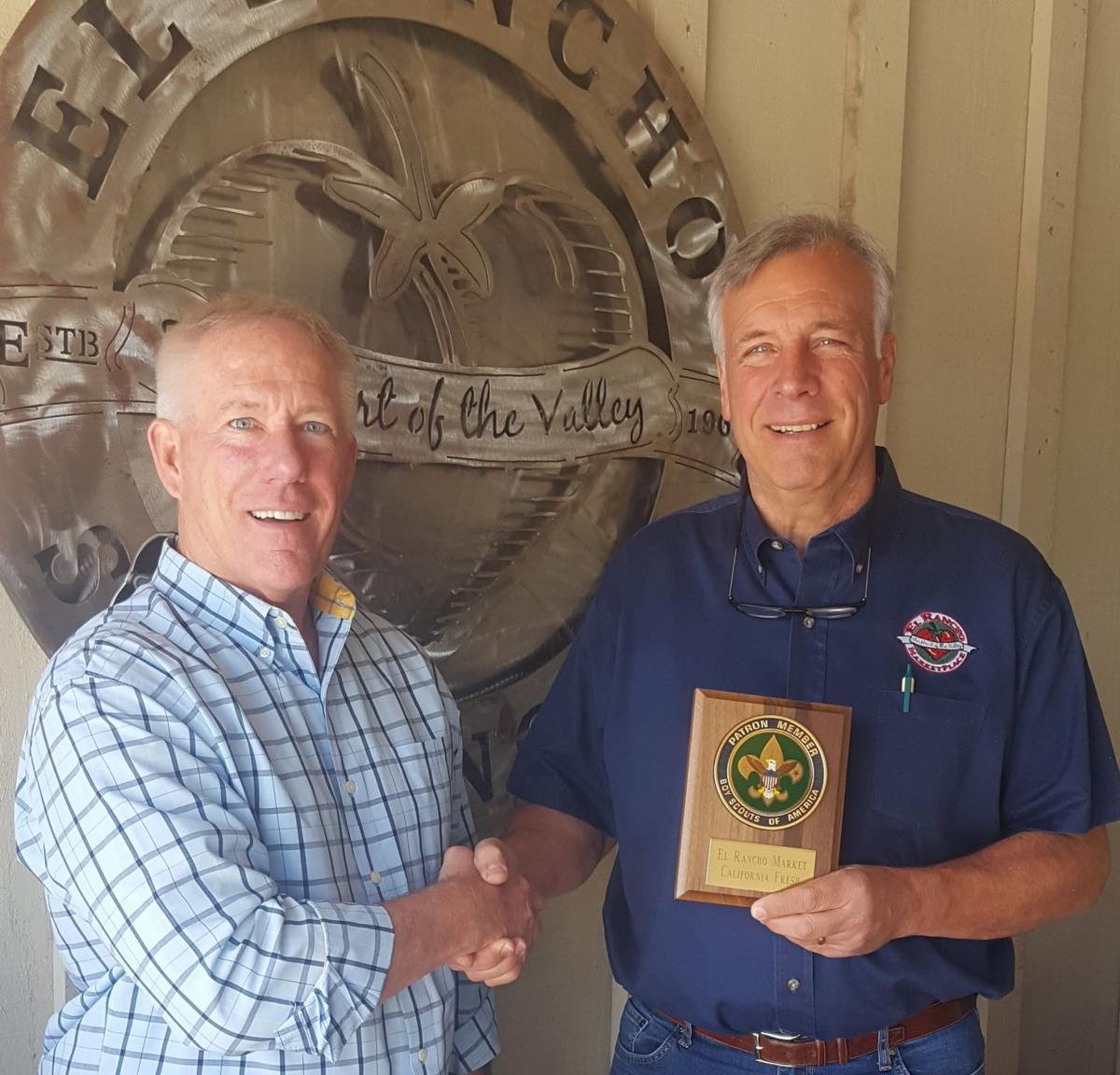 El Rancho award from Boy Scouts