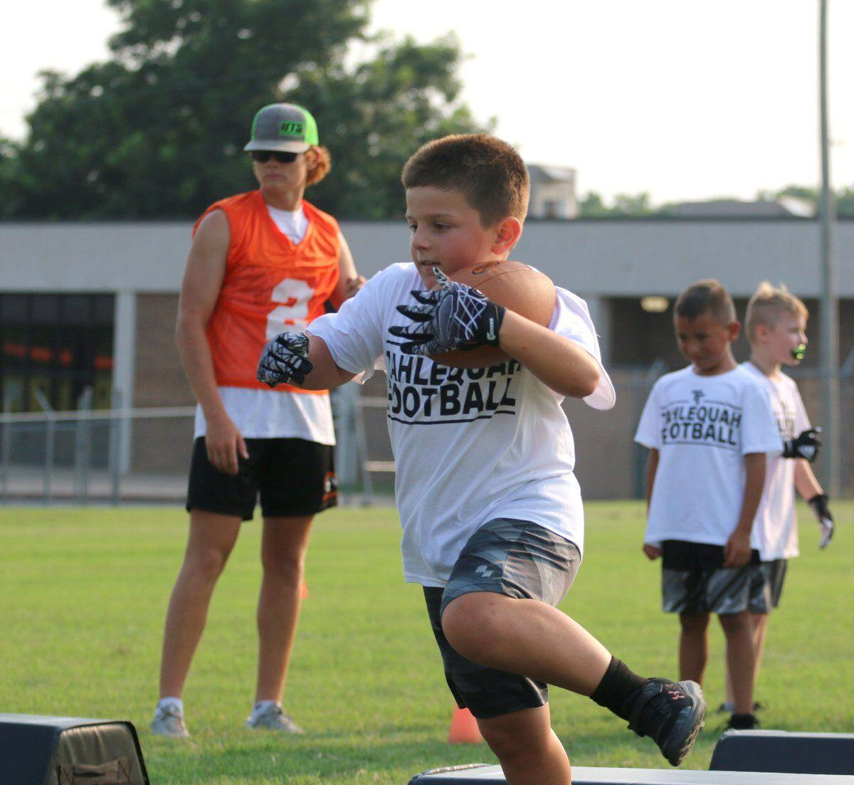 MORE SUCCESS: Tahlequah Youth Football Camp has huge turnout