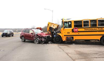 Dozing drivers cause two separate crashes