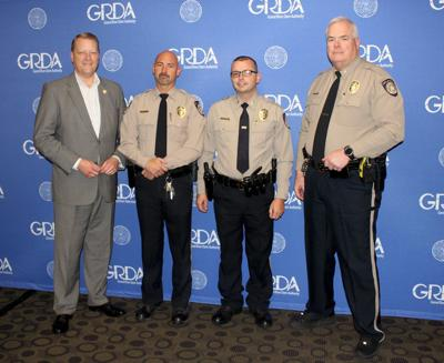 Two GRDA officers promoted