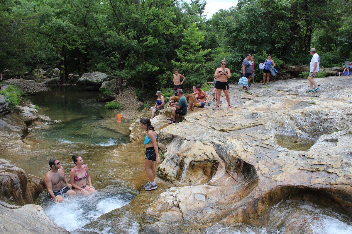 Families At Bathtub Rock