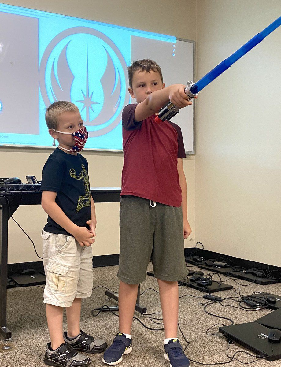 Students learn the way of the Force during Jedi training