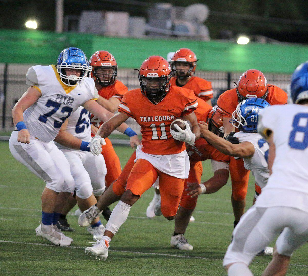 TIGERS FALL: Tahlequah stumbles against Pryor in District 5A-4 opener