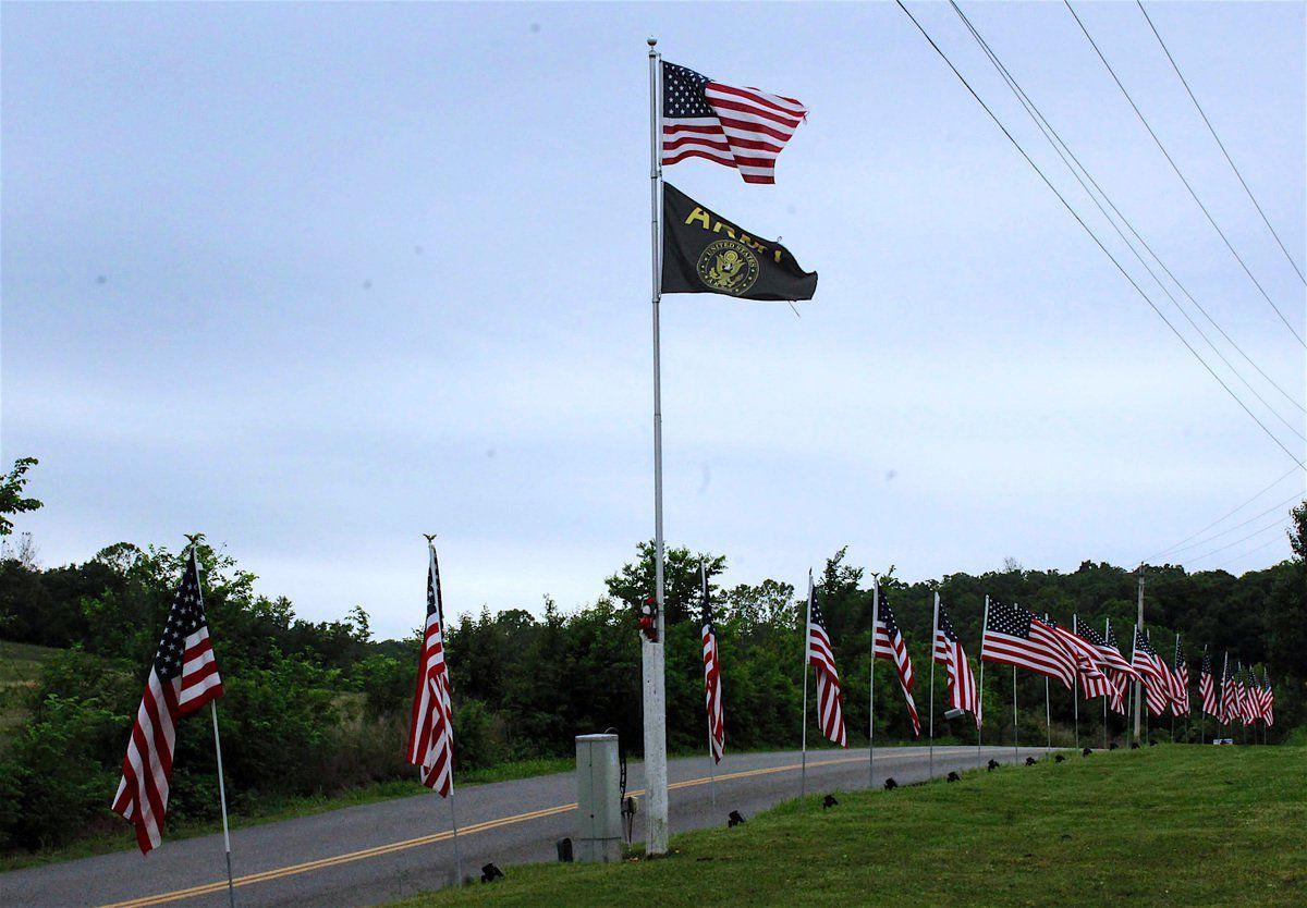Patriot flags