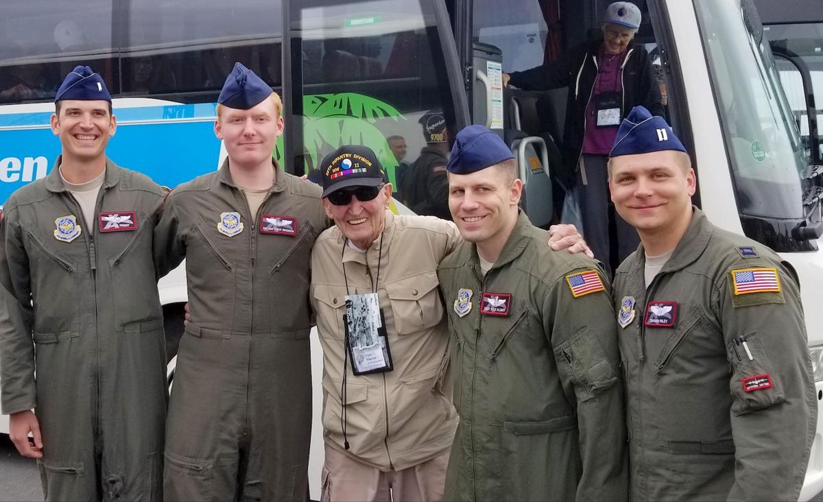 Martin and USAF crew members