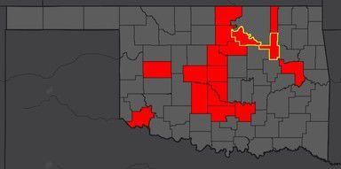 COVID-19 cases in Oklahoma