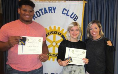 SHS Rotary Students of the Month