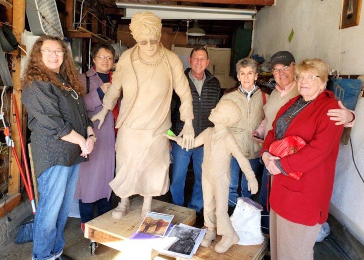 Herrington 'flabbergasted' by statue of her