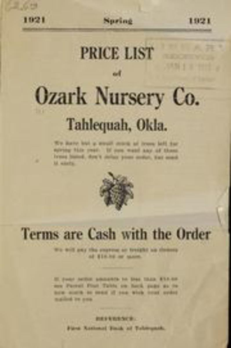 Ozark Nursery A Local That Operated From 1895 1980 Issued Annual Catalogues The Graphic At Left Also Served As An Adver