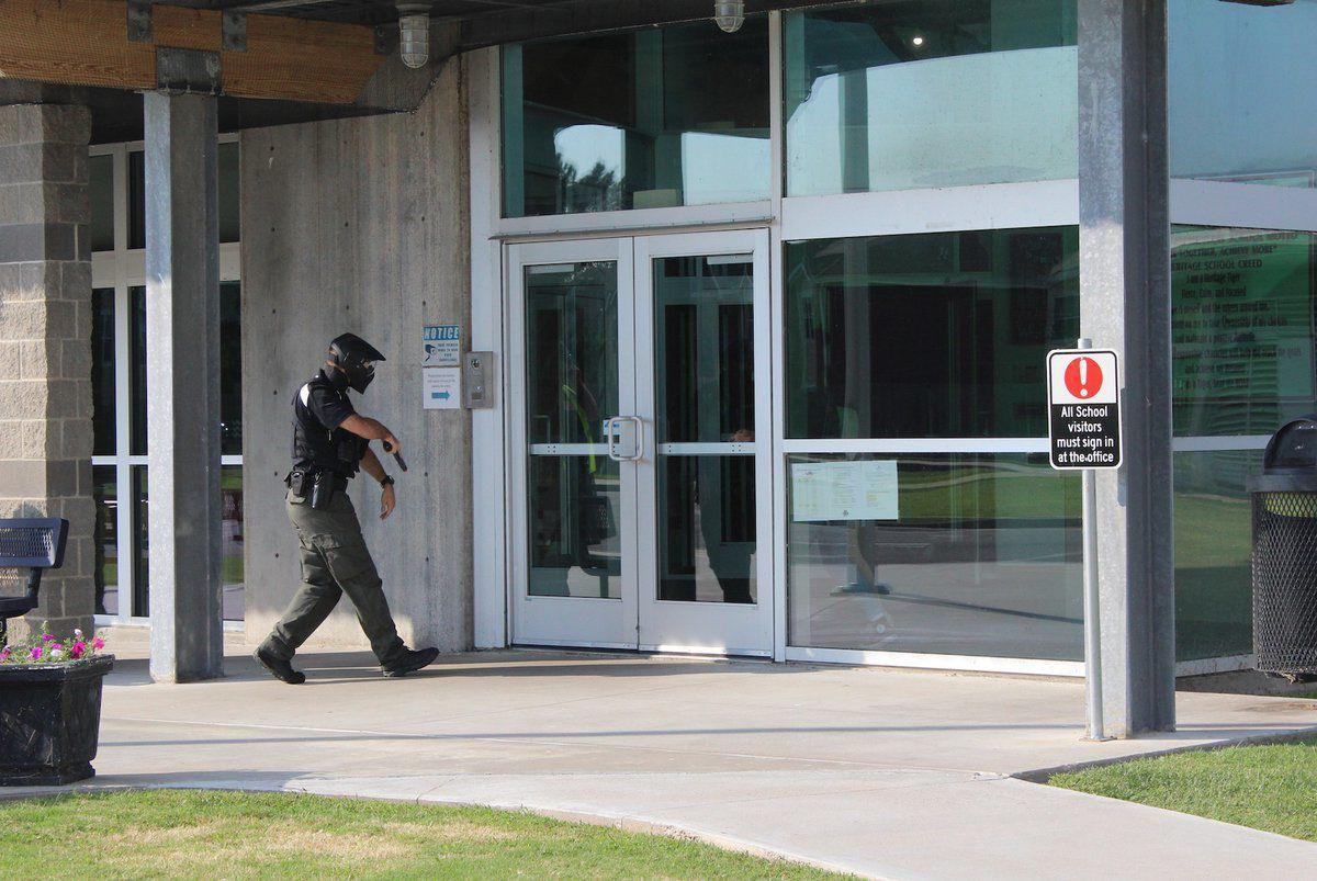 Area first reponders train during active shooter drill