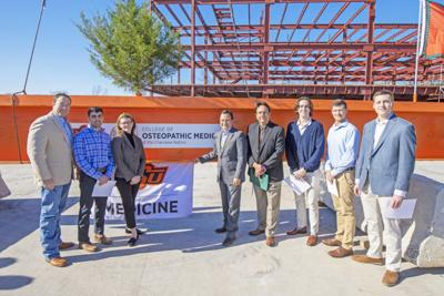 Cherokee Nation, OSU celebrate topping out of new College of Osteopathic Medicine