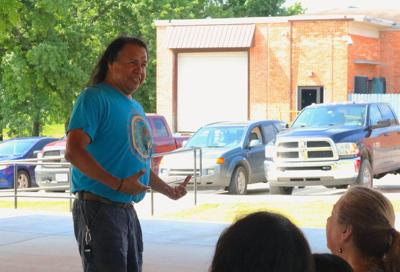 Children learn about Cherokee culture through Lewis' tales