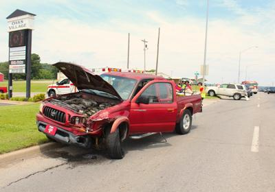 Two vehicles collide, one person injured