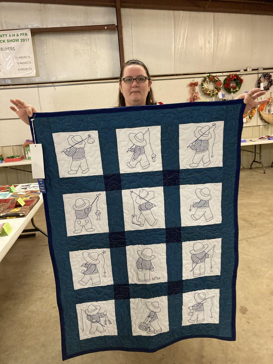Quilters patch together prizes for county fair