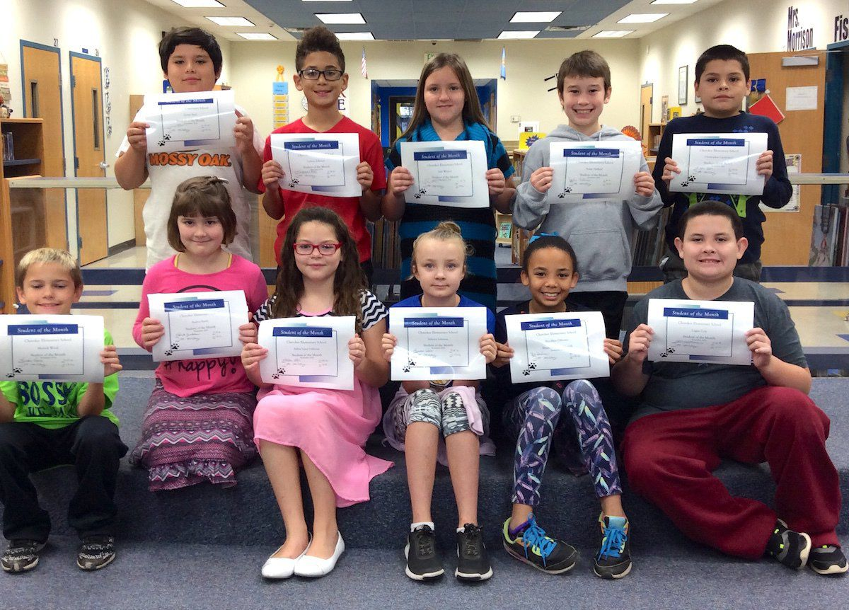 Cherokee Elementary School Students of the Month