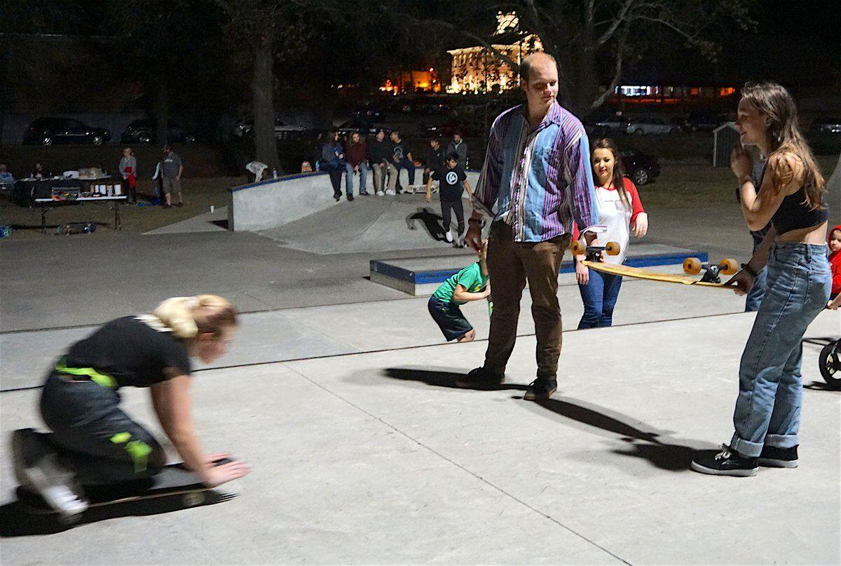 ROLL, BETTY, ROLL: Girls get out the wheels for new event at skate park