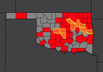Cases by county