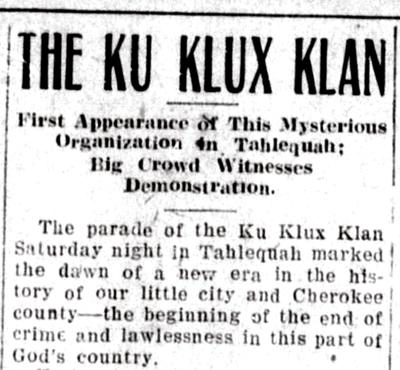 KKK kicked off Tahlequah influence with parades | News | tahlequahdailypress.com