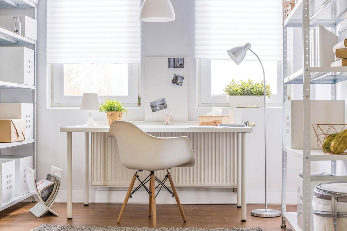 Create your own workspace at home. You can make a home office in ...