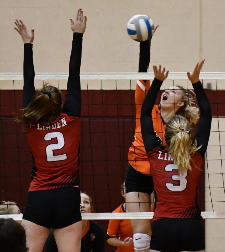Fenton vs. Linden volleyball