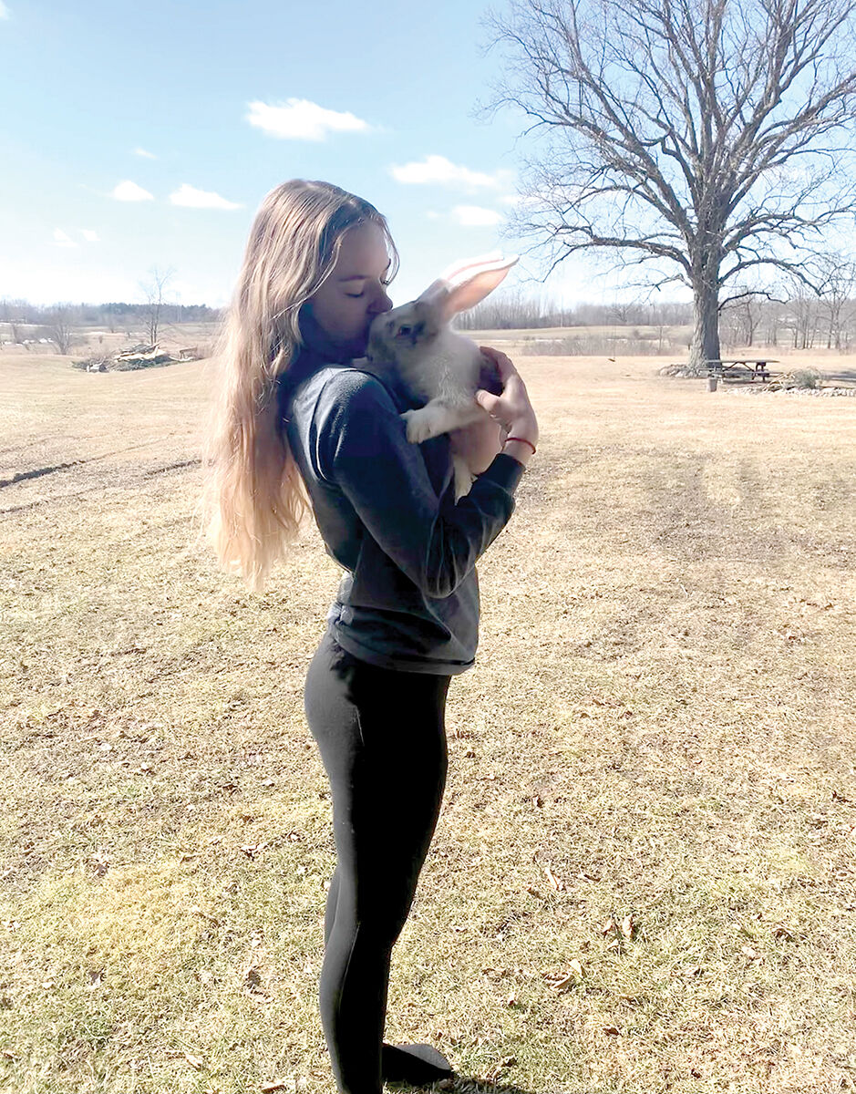 Jenna anderson and her rabbit.jpeg