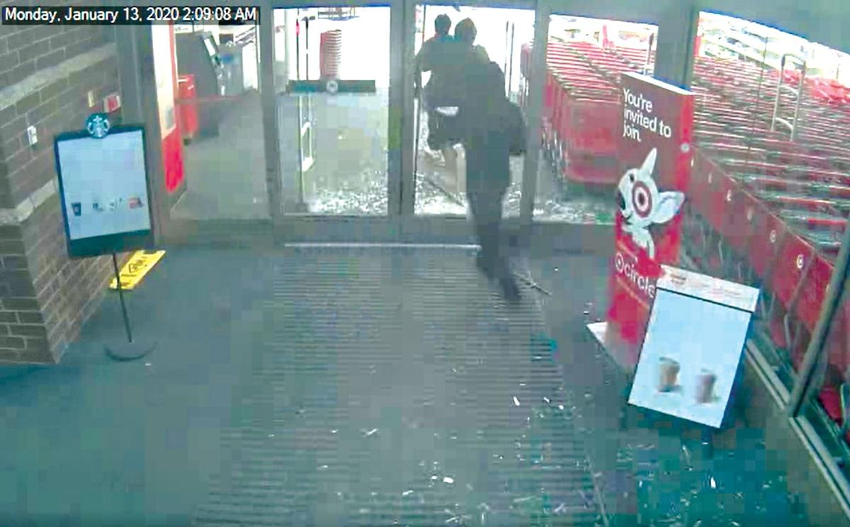 video still of Target break in