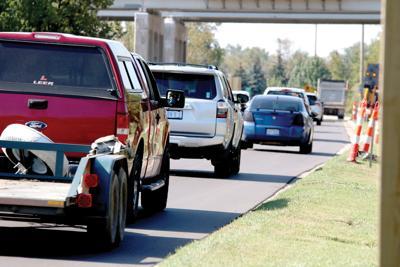 Silver Lake Road traffic 1.JPG