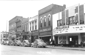 """The Rowena Theater in downtown Fenton in the spring of 1942 was showing """"A Yank on the Burma Road,"""" starring Laraine Day, Barry Nelson and Stuart Crawford."""